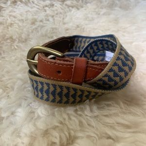 LEVIS LEATHER AND WOVEN FABRIC BELT